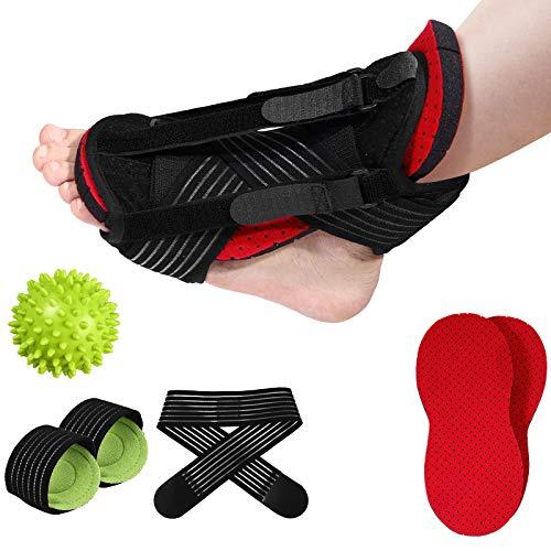 Healifty Plantarfasziitis, Nachtschiene, Fußgewölbeunterstützung, Massageball, Fußstütze, Fußschmerzlinderung, Stiefelsocke, verstellbare Unterstützung, Schlaf-Wegfahrsperre