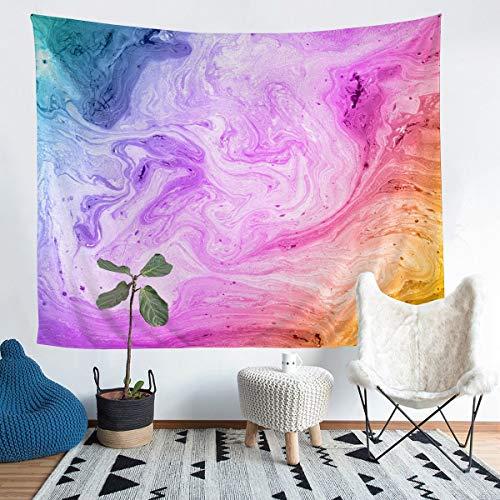 Loussiesd Tapiz de mármol para colgar en la pared con estampado de mármol, diseño abstracto de lujo para decoración de la habitación de los adolescentes, manta de cama ligera, 152 x 201