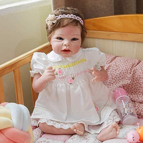 yunge muñeca de Juguete 55 cm recién Nacido muñeca coleccionables Arte muñeca Suave cuerpo100% Hecho a Mano Pintura Detallada renacida bebé Tela de bebé niño Realista