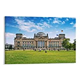 ASDYO Famous Attractions Reichstag Poster, dekoratives