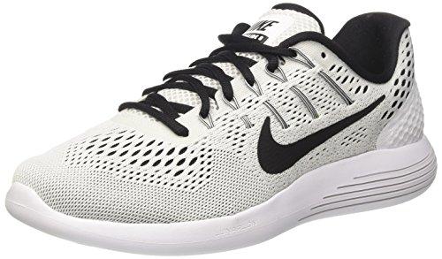 Nike Wmns Lunarglide 8, Scarpe da Corsa Donna, Multicolore (White/Black), 35.5 EU
