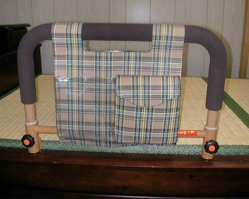 吉野商会 ささえ (畳ベッド用) 重量3kg 布団マットずり落ち防止 ベッド用起上がり手すり 小物整理バッグ付