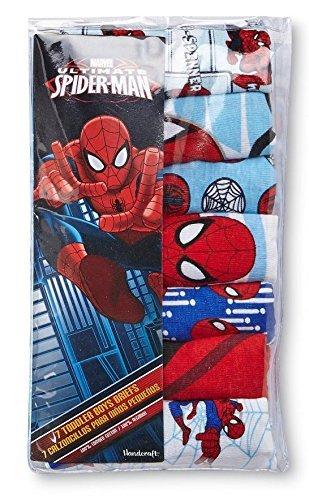 Marvel スパイダーマン 男の子 コットン100% 前開き ブリーフ 7枚セット 110cm 4T