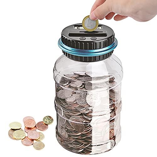 Bancos De Dinero Digitales, Caja De Dinero Para Contar Monedas, Frasco Automático De Conteo De Monedas, Tarro Transparente Para Ahorrar Dinero Con Pantalla Lcd Y Gran Capacidad