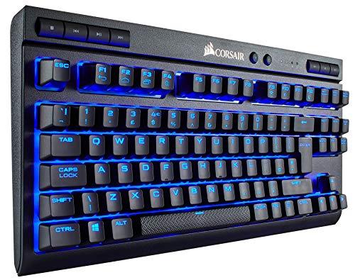 Corsair K63 Wireless Tastiera Meccanica Gaming, Cherry MX Red, Retroilluminato LED Blu, Italiano QWERTY, Nero
