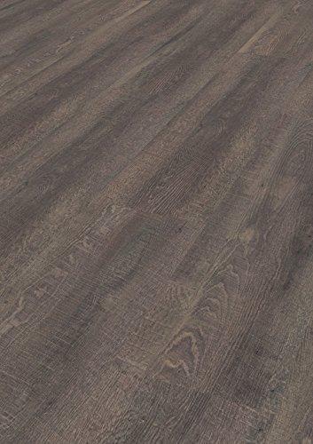 1 m² Design Korkboden, Korkboden zum kleben, Korkboden zur Verklebung auf dem Untergrund, Korkboden dunkel, Korkboden mit Holzoptik, dunkler Korkboden in Holzoptik - Eik argento