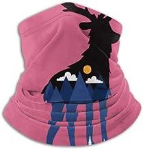 Fleece Neck Warmer ,Multifunctional Black Deer Silhouette Mountain Scarf,a Full Face Mask Or Hat, Neck Gaiter, Neck Cap ,ski Mask, Half Mask,Face Ma Running 6640