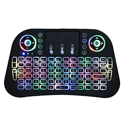 Mini-Wireless-Tastatur Tragbare Wireless-Tastatur 2.4G Bunte Beleuchtung mit Touchpad-Hintergrundbeleuchtung Wireless-Bluetooth-Tastatur Mini-Tastatur