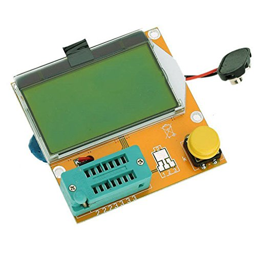 HiLetgo LCR-T4 Multifunctional Resistor Capacitor Diode SCR Inductor Triode MOSFET Tube Meter Tester component tester kit 9V with 12864 Green Backlight LCD Display