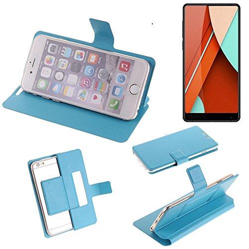 K-S-Trade® Flipcover Für Bluboo D5 Pro Schutz Hülle Schutzhülle Flip Cover Handy Case Smartphone Handyhülle Blau