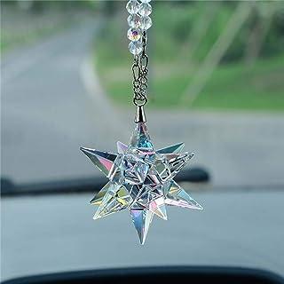 FJKWLC Car Pendant Crystal Meteor Decoration Hanging Ornament Charms Automobiles Interior Rearview Mirror Suspension Trim ...
