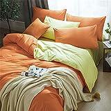 LYJZH Bettbezug & Kissenbezug Leichte Mikrofaser Bettwäsche Set Einzelgröße Doppelte King Size Einfarbiges Bettwäscheset aus Vier Baumwollfarben8 Größe2