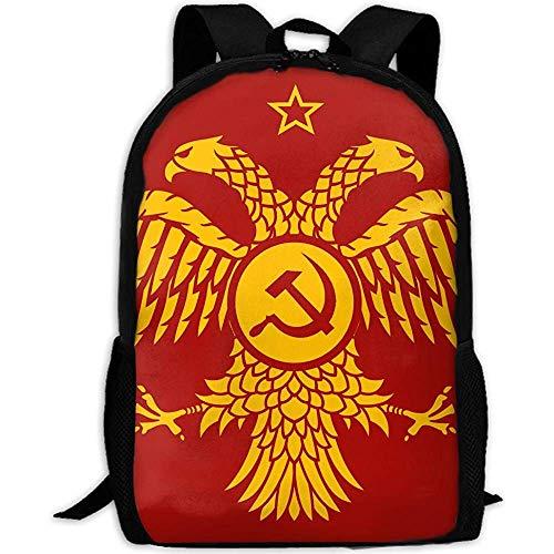 Unisex-Reiserucksack,College-Computer-Rucksack,Tagesrucksack,Schultasche für die kommunistische byzantinische Fahne Unisex-Reiserucksack,College-Computer-Rucksack,Tagesrucksack,Schultasche für die Fre