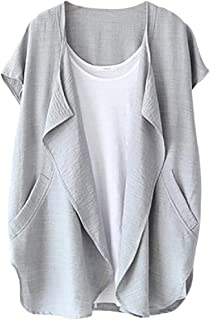Lutratocro Women 's Open Front Cardigan Tejido Tops Chaleco Chaleco