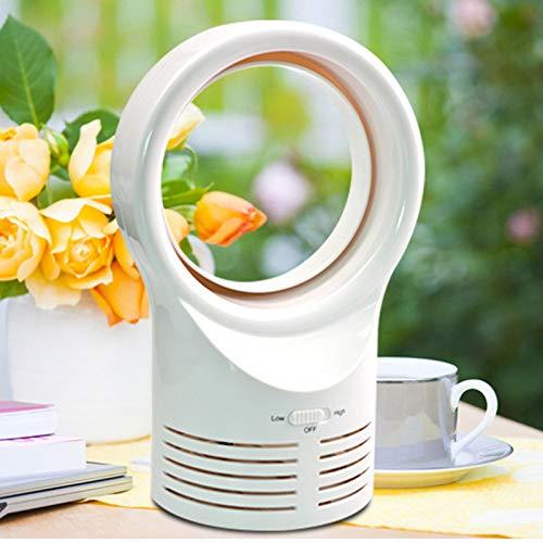 Instelbare USB-miniventilator draagbare bladloze ventilator handmatige mini-koeler geen blad handige ventilator met 4-kleuren mini-desktopventilator