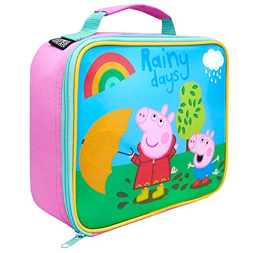 Peppa Pig Bolsa térmica térmica para almuerzo de Polar Gear, bolsa térmica para guardería, comida para pícnic, refrigerador, poliéster duradero, rosa, talla única