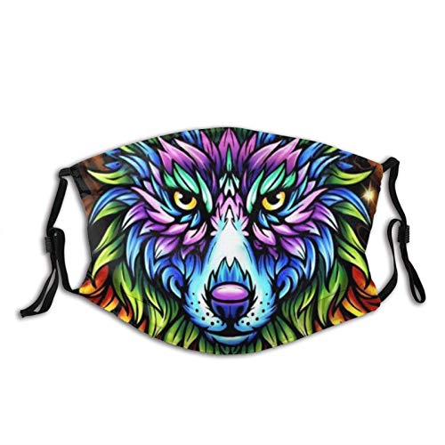 Space Foxes Classic Face Mask Scarf, Washable & Reusable Breathable Bandana with 2 Filters for Men & Women