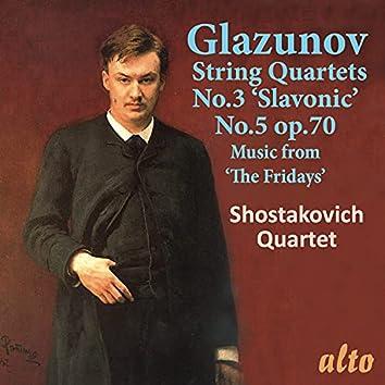 """Glazunov: String Quartets Nos. 3 & 5, Music from """"The Fridays"""""""