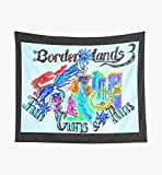 Borderlands 3 Fun Guns & Puns Tapestry Wall Art Tapestries for Dorms Bedroom Living Room C_o_l_o_r_f_u_l Décor