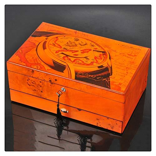 Yousiju 12 Ranuras Hombres de Moda hogar Caja de Reloj de Madera Caja de Almacenamiento de Reloj Superior para Hombres Relojes (Size : B)