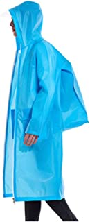 Poncho Adult Backpack Raincoat Long Outdoor Waterproof Zipper Large Size Poncho (Color : Blue, Size : XL)