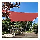 LIUNA Vela de Sombra Rectangular Cuadrada de poliéster Impermeable 3X4M marquesina para terraza de jardín natación sombrilla Camping Toldo de Vela de Patio de Senderismo (Size:2x2m (7'*7'))