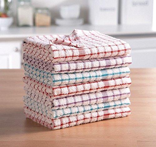 AritradersLTD - Paños de cocina de rizo, 100 % algodón, muy absorbentes, 3, 6, 9, 12 y 15 unidades, varios colores, 100% algodón de rizo. 100% algodón algodón, Paño de cocina de rizo., Pack of 15