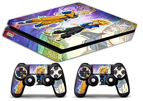Funda para Ps4 Slim de edición limitada, de Games Monkey; funda de edición limitada delgada de Gohan y Trunks, de Dragonball
