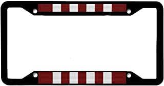 AllCustom4U Black License Plate Frame for Women/Men, Stainless Steel Metal License Plate Holder, License Tag Holder