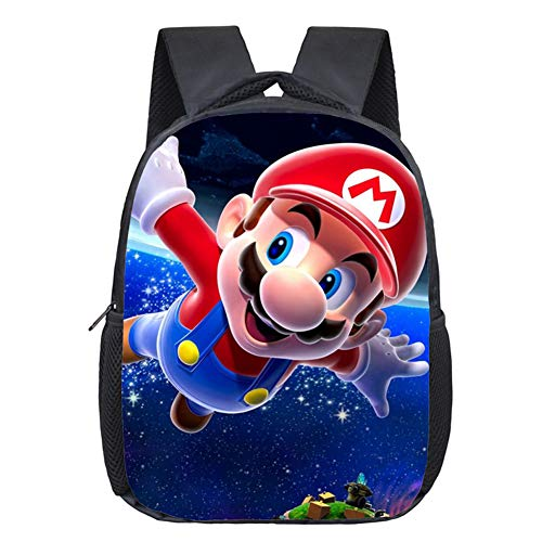Simmpu Mario Bros Mochilas Escolares Mario Bros Mochila Casual Juego de mochila escolar Mario Bros Mochila Patrón Popular Cartoon Impresión Mochilas para Niños y Niñas Viajes Escolar Senderismo