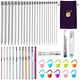 Best Knitting Needle Sets - Anpro Knitting Needles Set 56PCS Crochet Hooks Set Review