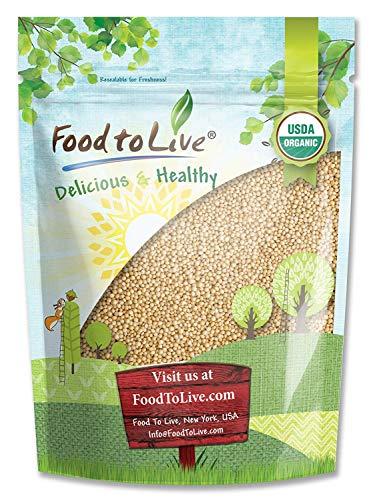 Organic Amaranth Grain, 1 Pound - Whole Seeds, Non-GMO, Kosher, Vegan, Bulk