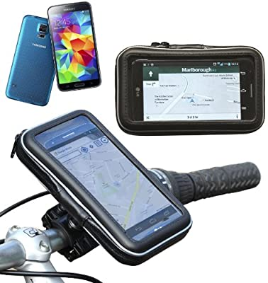 Navitech Cycle / Bike / Bicycle & Motorbike Waterproof holder Mount & Case Compatible With The Samsung Galaxy S5