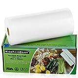 KitchenBoss Sac Sous Vide Alimentaire,1Rouleau 20cmx15M,Total 15 M,Rouleaux de Mise...