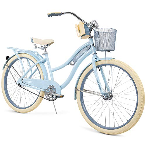 "Snow Shop Everything Nel Lusso Classic Cruiser Bike Frame, Women's, Light Blue, 26"""