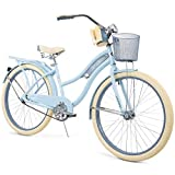 Snow Shop Everything Nel Lusso Classic Cruiser Bike Frame, Women's, Light Blue, 26""