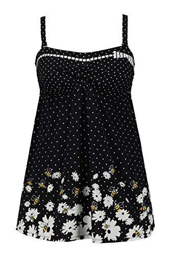 Ulla Popken Damen große Größen Badekleid Multicolor 54 727641 90-54