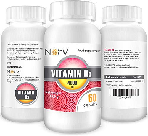 Premium High Strength Vitamin D Tablets - Effective Vitamin D3 4000IU 60 Easy to Swallow Softgels - Vitamin D Supplement for Healthy Muscles and Bones - One a Day, High Strength VIT D (Pack of 8)