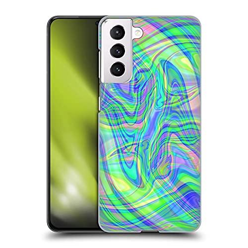 Head Case Designs Licenza Ufficiale Suzan Lind Verde Porpora Marmoreo Cover Dura per Parte Posteriore Compatibile con Samsung Galaxy S21 5G