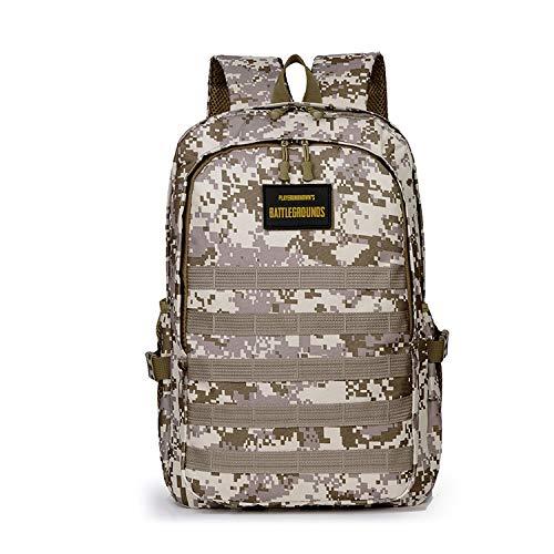 FANDARE Militar Mochila Bolsa de Escuela Unisexo Mochilas Tipo Casual Bolsos de Mujer Hombre Bolsa de Viaje Niña Niño School Bag Adolescente Knapsack Daypack Impermeable Poliéster Camo Amarillo