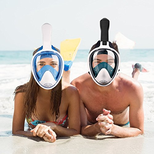YONGQI LJR Full Face Snorkel Mask 180° Full Face...