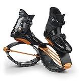 KangooJumps Rebound Shoes XR 3 - Máquina de Step para Fitness, Color Nergo/Naranja, Talla M