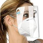Pantalla de protección Facial, 12 Piezas de Visera y 6 Piezas de Gafas de protección de Seguridad An... #1