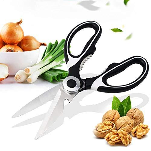 OOPP - Tijeras de cocina de acero inoxidable para la carne de pollo, verduras, pescado, pollo, BBQ