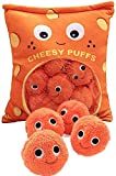 Qklovni Plush Toy, Cute Plush Cheesy Puffs, Cheese Puff Pillow with Cheese Puffs in It,Cushion, Delicious Food Dessert Package, Birthday Gift (9 Balls)