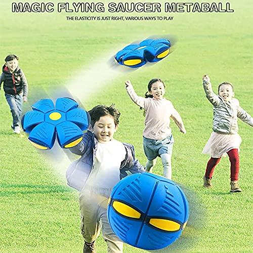 Beautyup Bola de Platillo Volador OVNI de Deformación: Lanzar Uun Disco, Atrapar una Bola, Bola de Deformación de Escape de Cubo Mágico, Bola de Descompresión para Niños (Color : Blue)