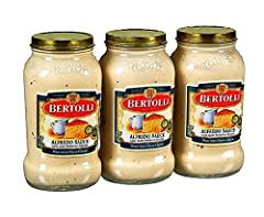 Create classic Italian favorite dishes from Alfredo Made with fresh dairy cream and aged Parmesan cheese Perfect sauce for pasta and a variety of other dishes Includes three jars of Bertolli Alfredo Sauce, 15 oz. each