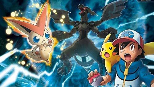 YGVXX Rompecabezas de 1000 Piezas para Adultos Rompecabezas para Adultos 1000 Piezas de Anime para Padres e Hijos Pokemon Pikachu Juego de Rompecabezas de Juguete cooperativo