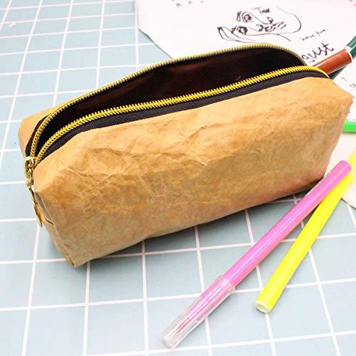 Ruiqas Ultralight Tyvek-Kosmetiktasche mit Reißverschluss Einfache Make-up-Tasche (Color : Brown)