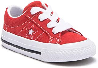 Infant One Star Ox Red/White/White Skateboarding Shoes 758434C